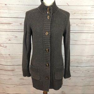 Carhartt Brown Button Long Sweater Cardigan